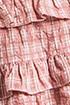 Plaid Print Top and Ruffle Skirt Sets