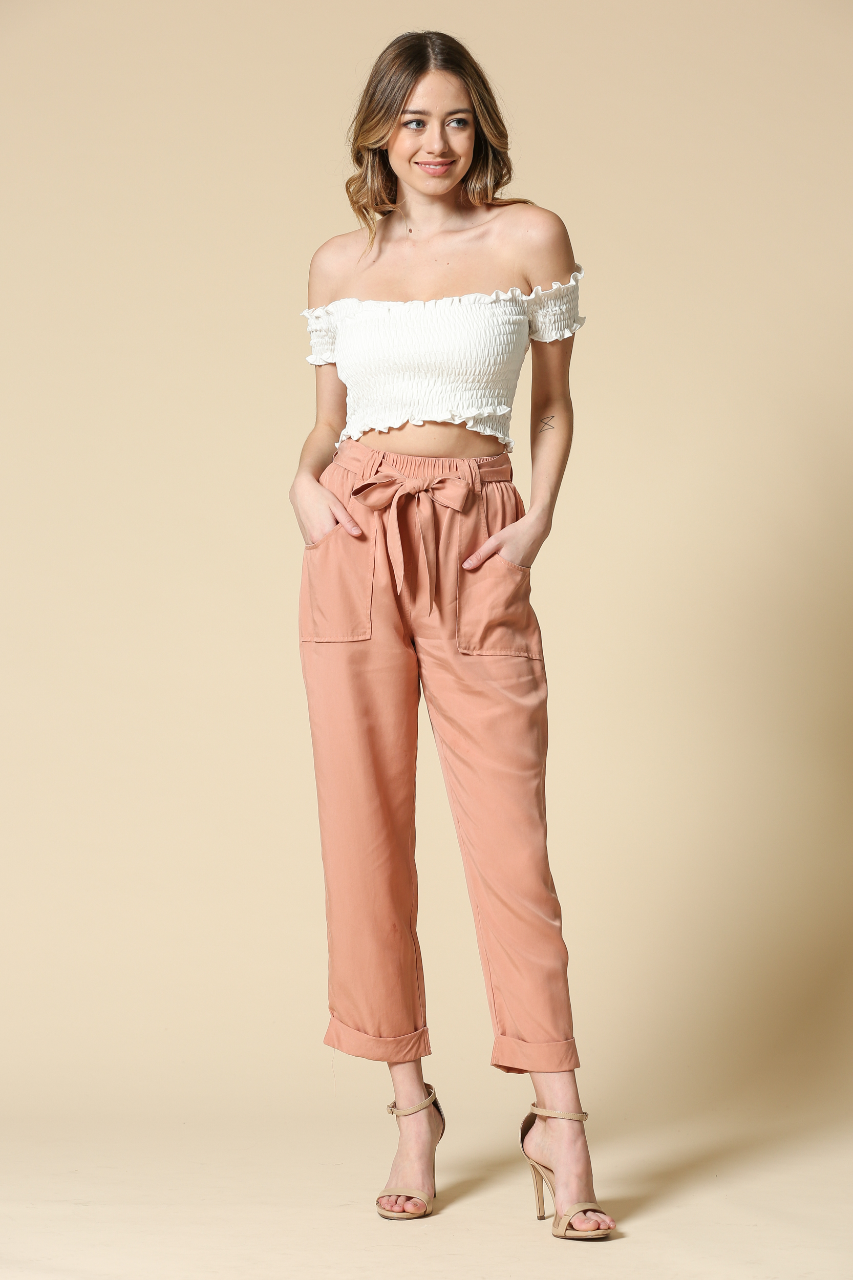 Tencel Belted Pants