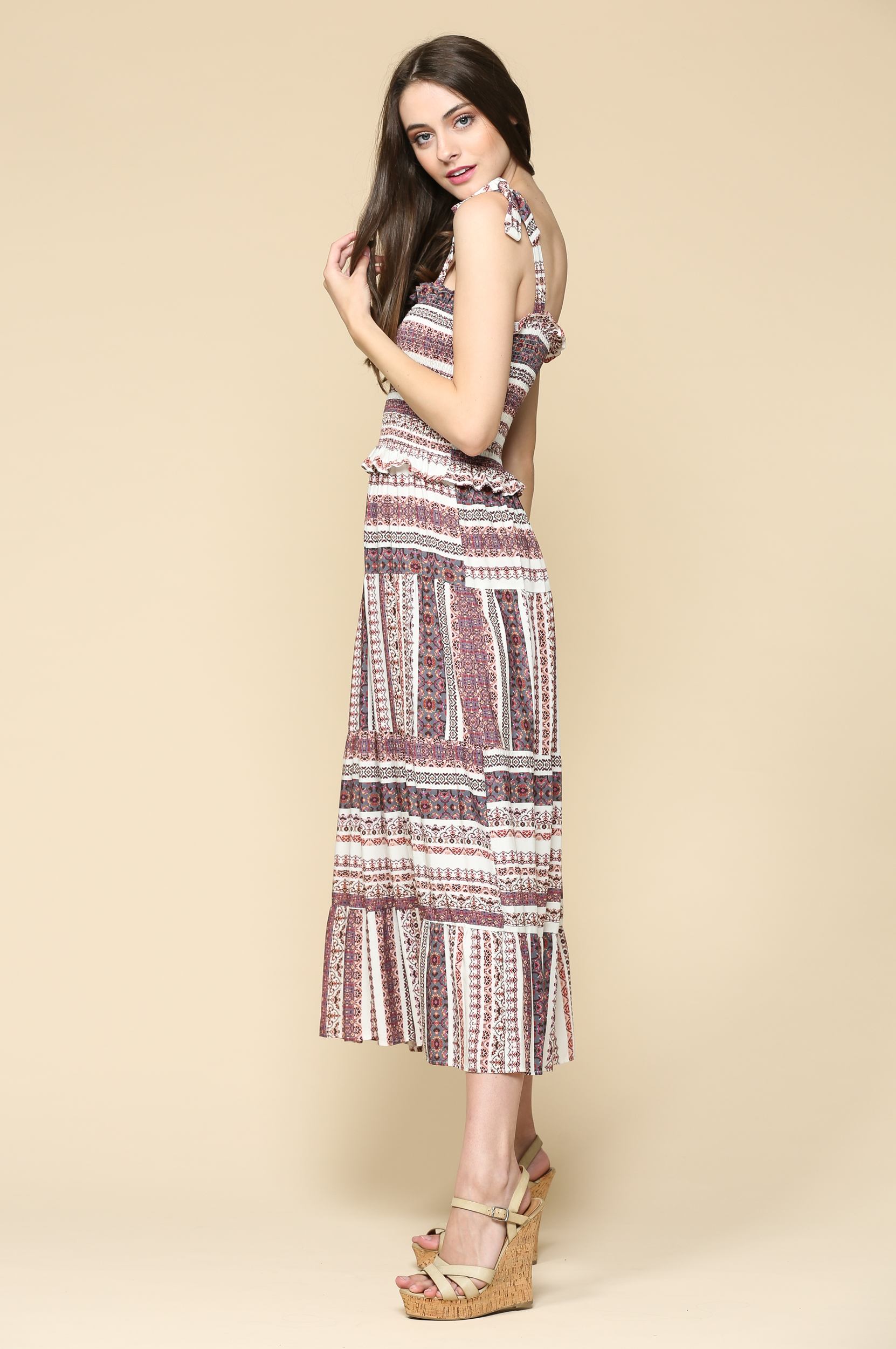 Maxi Block Striped Dress