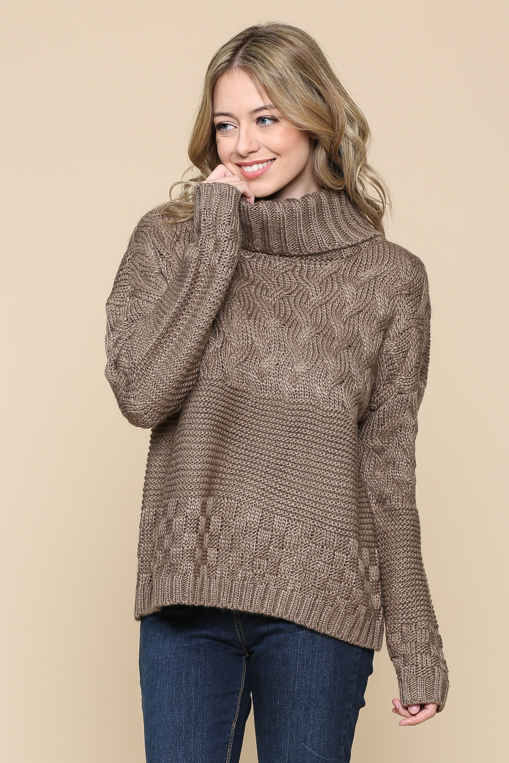 Mixed Design Sweater
